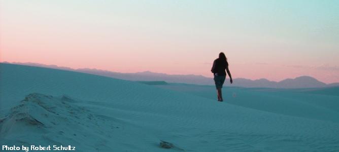 Becky Olvera Schultz at White Sands, NM