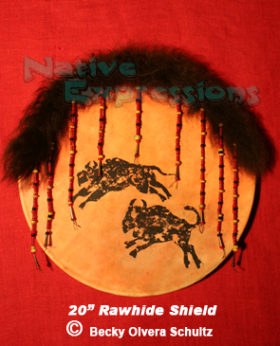 """20"""" Rawhide Shield-©Becky Olvera Schultz"""