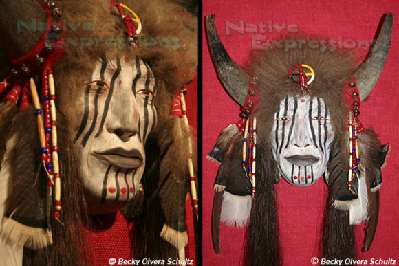Native American Mask, Red Wolf-©Becky Olvera Schultz