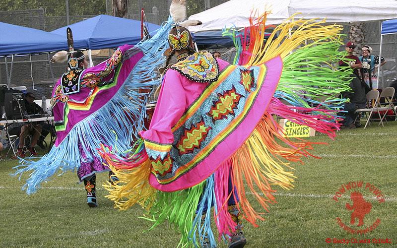 Fancy Shawl Dancers, P.A.A.W. Powwow, San Jose CA