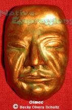 Olmec Mask-©Becky Olvera Schultz