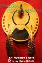 """13"""" Bison Horn Shield-©Becky Olvera Schultz"""