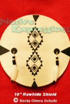 "10"" Deer Hide Shield-©Becky Olvera Schultz"
