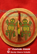 "12"" Two Lizard Shield-©Becky Olvera Schultz"