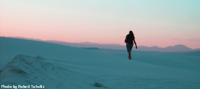 About Artist Becky Olvera Schultz at White Sands, NM