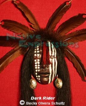 Dark Rider-Native Mask-©Becky Olvera Schultz