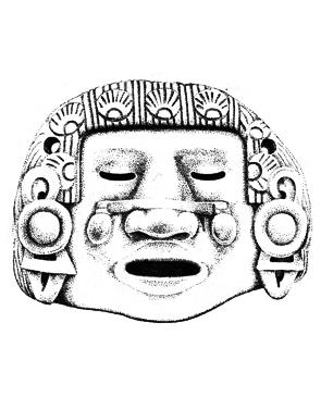 aztec mask native american inspired masks art