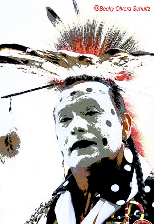 Traditional Powwow Dancer, Mickey, by Becky Olvera Schultz