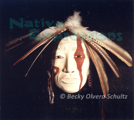 ©Becky Olvera Schultz-Stands Firm Native American Mask